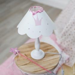 Lampe à poser festonnée princesse