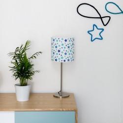 Lampe à poser étoiles bleu turquoise personnalisable