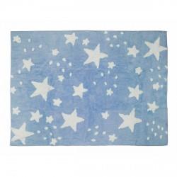 Tapis pluie d'étoiles bleu ciel