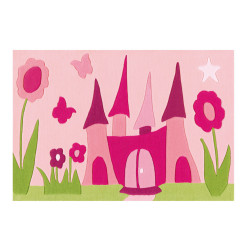 Tapis Château de princesse rose