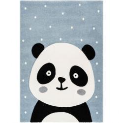 Tapis enfant panda Madura bleu
