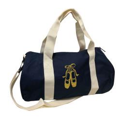 Sac de sport marine chaussons de danse or pailleté personnalisable