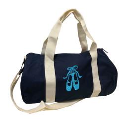 Sac de sport marine chaussons de danse turquoise pailleté personnalisable