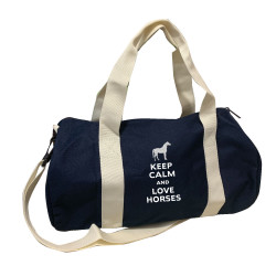 Sac de sport marine keep calm love horses argent personnalisable