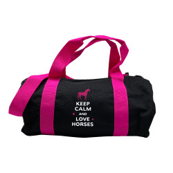 Sac de sport marine rose keep calm love horses rose personnalisable
