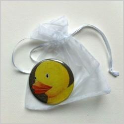 Miroir de poche canard jaune