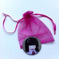 Miroir de poche kokeshi fille 1