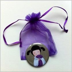 Miroir de poche kokeshi fille 11