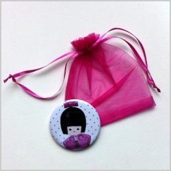 Miroir de poche kokeshi fille 3