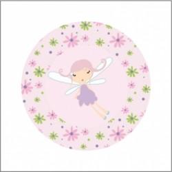 Miroir de poche liberty fée rose