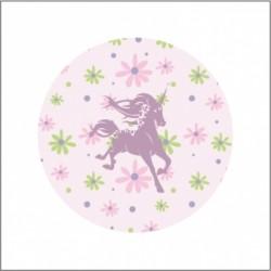Miroir de poche licorne liberty rose