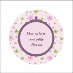 Miroir de poche petite beauté fleuri