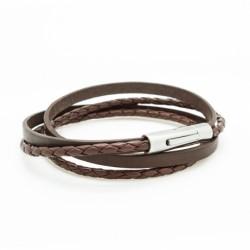 Bracelet Le Mix marron - Acier