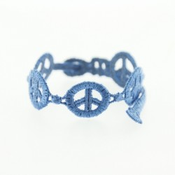 Nouveau Bracelet en dentelle motif Peace