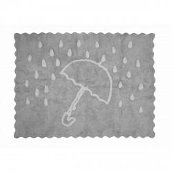 Tapis enfant coton parapluie gris