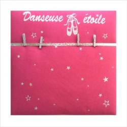 Pêle mêle danseuse étoile aux chaussons de danse pailleté personnalisable