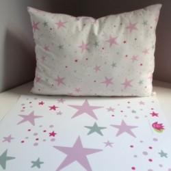 Pack déco étoiles magiques rose
