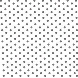Papier peint blanc à gros pois gris