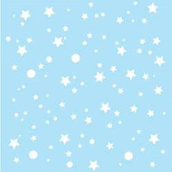 Papier peint bleu clair étoiles de la galaxie