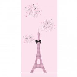 Papier peint Melle Paris Tour Eiffel et feu d'artifice