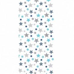 Papier peint étoiles bleues grises