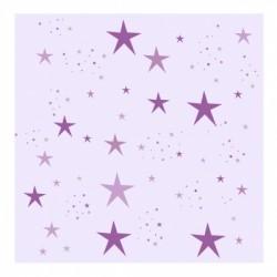 Papier peint étoiles magiques mauve