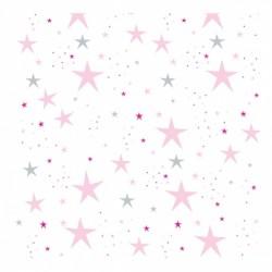 Papier peint étoiles magiques roses