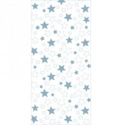 Papier peint étoiles mixtes bleues