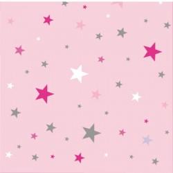 Papier peint  ciel étoilé rose