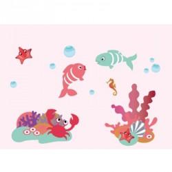 Papier peint décor aquatique fille L