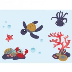 Papier peint décor aquatique garçon L