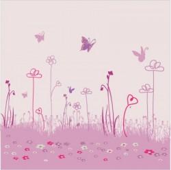 papier peint dcor jardin aux papillons l - Papier Peint Fille