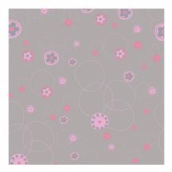Papier peint floral gris