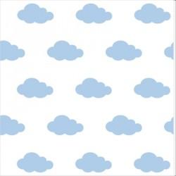 Papier peint nuages bleus