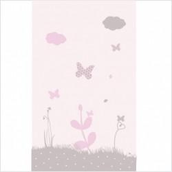Papier peint nuit étoilée rose