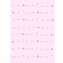 Papier peint panoplie de princesse rose