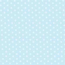 Papier peint petits pois bleu ciel