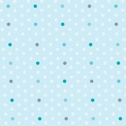 Papier peint petits pois bleus et turquoise