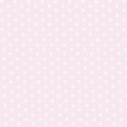 Papier peint petits pois rose