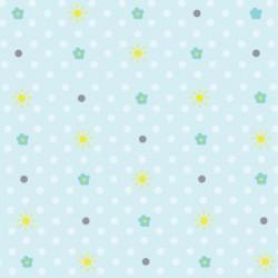 Papier peint printanier bleu