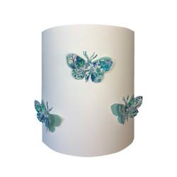 Applique papillons 3D liberty Elysian aile bleu