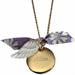 Pendentif Aile Ange- plaqué or