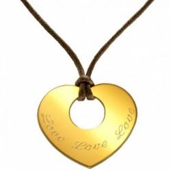 Pendentif Grand Amour - Plaqué or