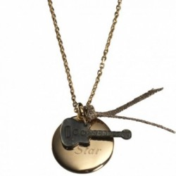 Pendentif guitare- plaqué or