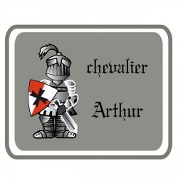 Sticker Plaque de porte chevalier Perceval