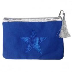 Pochette bleu étoile bleue personnalisable