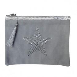 Pochette grise étoile star personnalisable