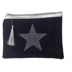 Pochette noire étoile star personnalisable