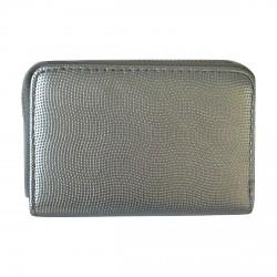 Porte-monnaie argent en cuir