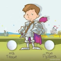 Porte manteau personnalisable chevalier carré